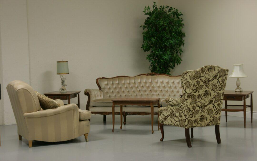 Le charme d'un mobilier baroque dans un intérieur moderne